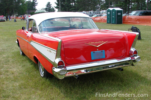 Fins Fenders Tri Five Chevy At Chetek Wisconsin Classic Car Show