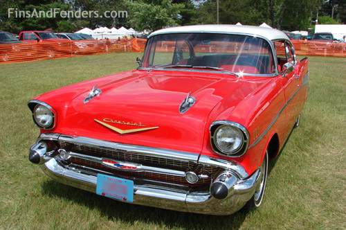 Old Chevy Cars >> Fins Fenders Tri Five Chevy At Chetek Wisconsin Classic