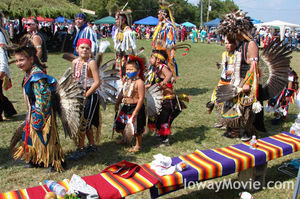 Young dancers at the 2008 Ioway tribe's powwow.