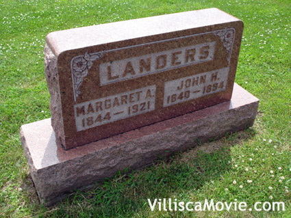 Margaret Landers grave in the Villisca, Iowa cemetery.
