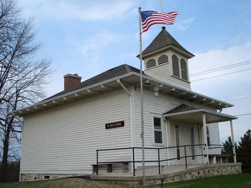 A restored country school near West Bend, Wisconsin.