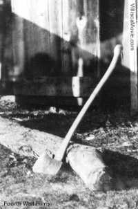 The murder weapon used in the 1912 Villisca, Iowa axe murders.