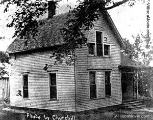 The Josiah B. Moore house on June 10, 1912 in Villisca, Iowa.