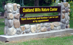 Nature Center sign.