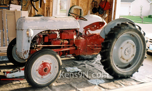 1939 Ford 9N tractor...finally in my garage.