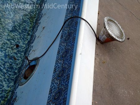 Pool drained the light removed.