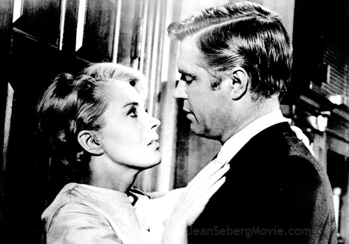 "Jean Seberg and George Peppard in ""Pendulum"" (1965)."