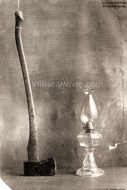The Villisca ax and Lamp.