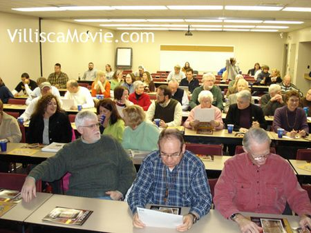 Crowd gathers at a Villisca DMACC event in 2008.