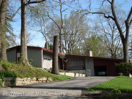 A mid-century modern home in Rock Island, Illinois.