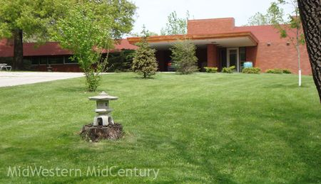 One of two Frank Lloyd Wright homes in Oskaloosa, Iowa.