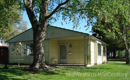 Classic mid-century modern Lustron home in Marshalltown, Iowa.