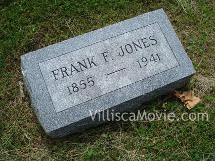 Frank Fernando Jones grave marker.