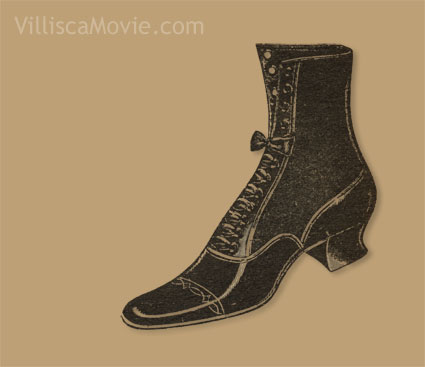 A ladies shoe.