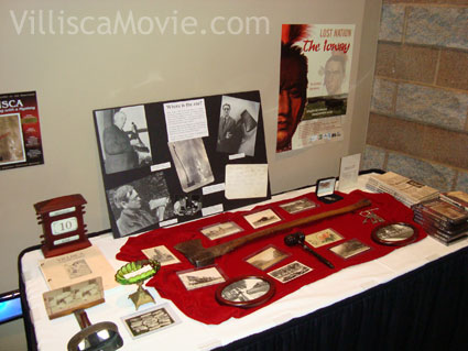 Villisca film lobby display in Ottumwa, Iowa.