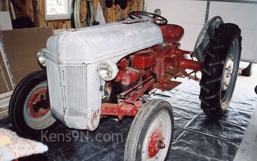 Unrestored Ford 9N tractor. Kens9N.com