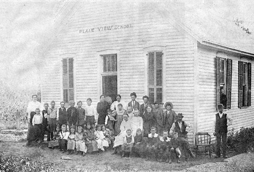 Plain View One-Room School Class of 1896