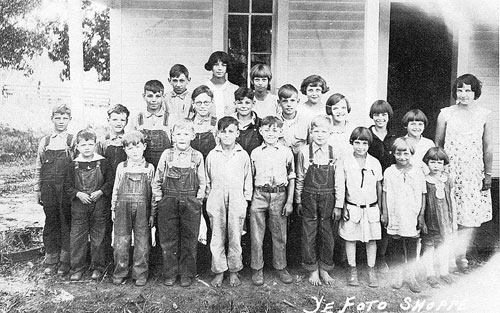 Plain View One-Room School Class of 1930