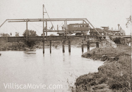Bridge building near Nodaway, Iowa.