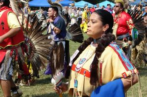 Pow Wow Native woman CU