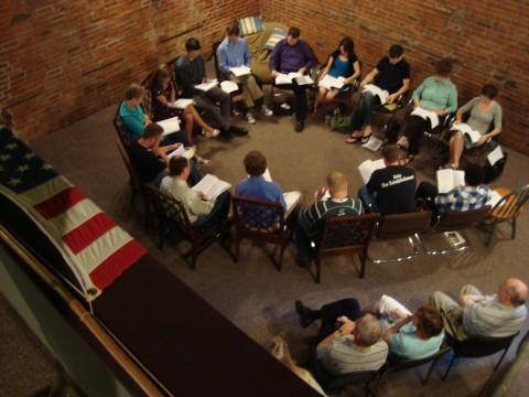 Screenplay reading group circle