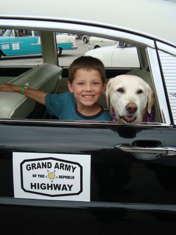 Dahl boy & dog