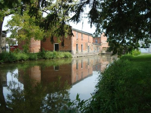 Amana Colonies water reflection