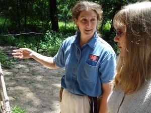 Melinda and Tammy talking