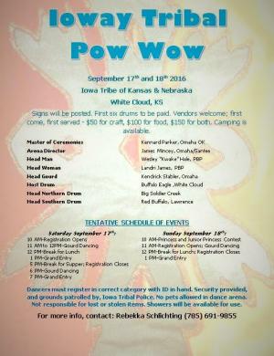 Ioway pow wow 2016