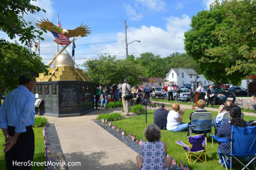 Hero St Monument Memorial Service