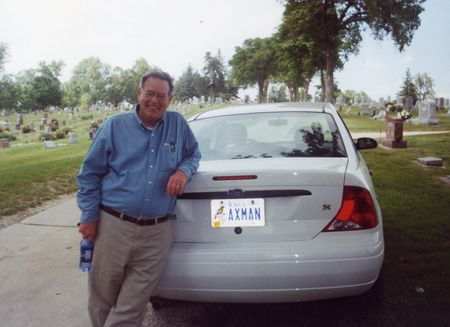 Ed ax man in cemetery