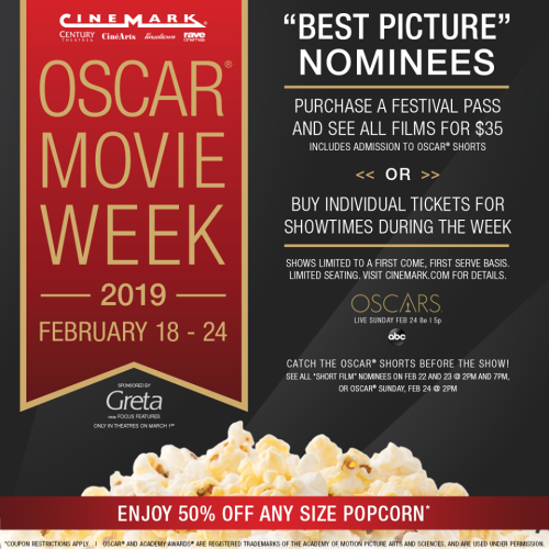 2019 Oscar movie week