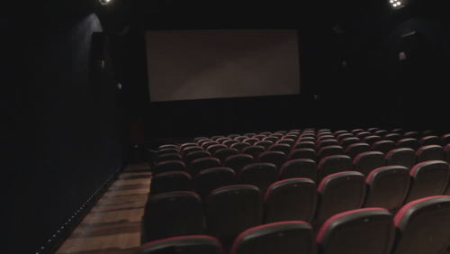 Empty dark theater