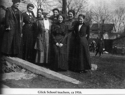Lang 1916 Glick school teachers