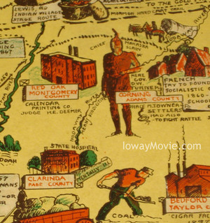 Lost Nation The Ioway Does Vintage Iowa Map Show Where Ioway - Vintage iowa map